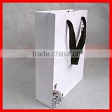 Craft Chinese Classic White Special Kraft Paper Tea packaging Gift Bag with Black Ribbon