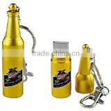 promotion metal beer bottle 3.0 flash drive