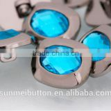 Wholesale Decorative Crystal Acrylic Rhinestone Covered Fancy Plastic Buttons