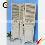 Hand carved country style Shabby shic Wood screen with shutters