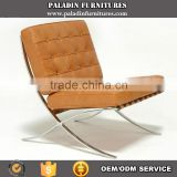 Brown genuine leather Barcelona Chair Replica