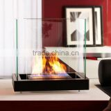 Popularity gaining portable ethanol table glass ethanol fireplace to decorate any corner of your home