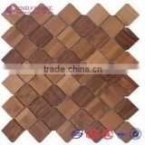 2015 China Irregular Shape Bamboo Mosaic Tiles TV Wall Tiles Hotel Decoration Cafe Decoration