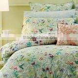 100% egyption cotton 300tc bedding sets, elegant flower designs printed bed sheet sets,small MOQ