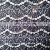 net black african embroidery knitting cotton/nylon lace fabric women dress china wholesale
