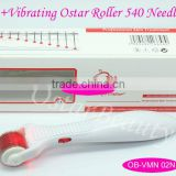 Micro needling electric 540 derma roller 405nm blue light facial massager
