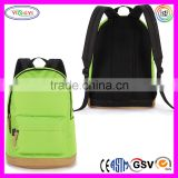 B590 Classic Green Backpack Youth Medium Size Polyester Water Repellent Youth Backpack