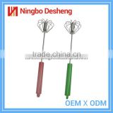 New products kitchen utensil hand mixer stainless steel whisk rotary machine cake egg beater