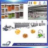 High Capacity Extruded Inflating Chocolate Filled Corn snack production line