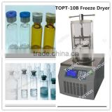Fruit & Vegetable Processing Machines laboratory benchtop vacuum freeze dryer lyophilizer with stopper for sale