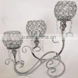 3 arms candelbra wedding centerpiece crystal candelabra