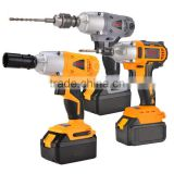 Rechargeable Li-ion battery cordless impact wrench with LED light electric wrench