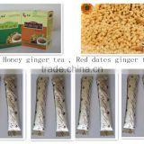 Hot sales 15g AIU packages Instant Honey Ginger tea powder