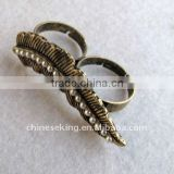 metal alloy double rings, hot two vintage rings,exotic finger rings