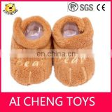 plush newborn baby winter cartoon plush shoes/soft sole baby shoes