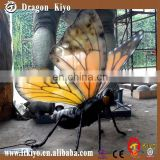2015 high quality Giant animatronic Insects Model of Butterfly Model