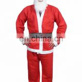 Economical felt material promotional red color santa suit