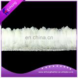 White Color Goose Feather Trim for Paty