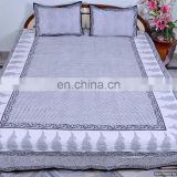 Indian Bed Cover 100% Pure Cotton Bed Sheets Hand Block Printed Beautiful Designer Paisley Bedspread