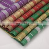 cheap glitter metal stripe fabric metal stripe satin fabric best selling in dubai india