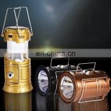 300lm Solar USB Battery Q5 LED Flashlight Retractable Metal Hook Night Party Camping Lamp