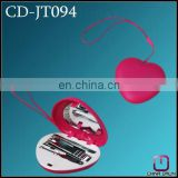 plastic mini heart shape manicure set with mirror CD-JT094