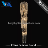 2018 Hotel Decoration lights Iron and K9 crystal indoor giant chandelier