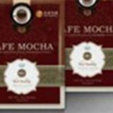 cafe mocha coffee with ganoderma powder for health