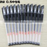 Gel Pens Black Ink 0.5mm Fine Point with Grip Roller Ball Pen 12 pack