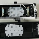2In 2Out Fiber Optic Splice Closure 96 Cores Fusion Buckle Type Horizontal ABS Enclosure