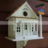 Custom cool wooden bird house, outdoor painted colour wood birdhouse                                                                         Quality Choice