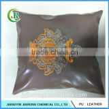 New Design Embroidery Faux Leather Cushion Cover