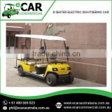 Globally Exported Brand of Factory Made Top Quality 8 Seater Electric Sightseeing Tourist Car