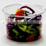 16oz disposable plastic deli container with lid.clear PET salad container.plastic food package bowl,printed PET fruit container