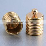 Jewelry manufacture strong jewelry findings brass cord end