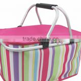 folding cloth shopping basket 600D jaquard fabric folding shopping basket cute shopping basket