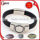logo tag bracelet blanks metal mens leather bracelets engraved