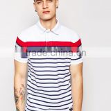 china wholesale men's clothing stripes polo tshirts bulk full package apparel manufacturers