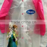 2015 new frozen fever raincoats wholesale elsa and anna rainwear frozen fever rain coats kid
