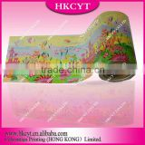 Beautiful Custom packaging foil roll film/colorful wholesale foil film for tea,coffee,drink,beverage
