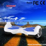 LED lighting 2 wheels intelligent electric self-balancing vehicle with Rohs certificated