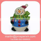 Christmas ceramic snowman cookie jar cheap