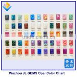 Synthetic Opal Color Chart for 55 different Colors