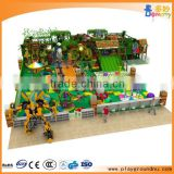 Jungle theme kids indoor soft play with ball pool big slide