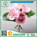 2016 Wholesale PU Latex Artificial Flowers Moth orchid four pieces two leafs Real Touch Babys breath fake flower