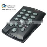 Professional simple call center dialpad headset caller id phone CHT-800