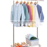 stainless steel hanging single pole telescopic rotating clothes rack