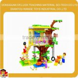 Funny Girl house Block play Set construction kits kids