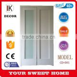 Water based paint finished Glass solid wood closet sliding doors                                                                                                         Supplier's Choice