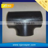 A234 GR WPB Carbon Steel Butt Weld Equal Tee black malleable cast Iron Pipe Fitting(YZF-P14)